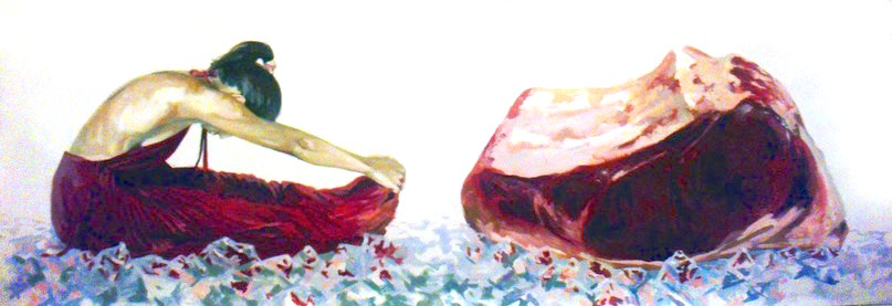 %22meat%22-acrylic-on-canvas-200x60